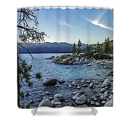 Evening At The Harbor-edit Shower Curtain