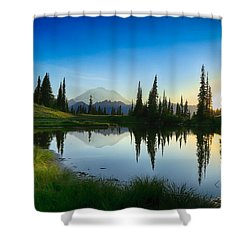 Evening At Tipsoo Shower Curtain