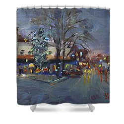 Evening At Webster And Main St Shower Curtain