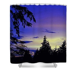 Evening Blue Shower Curtain
