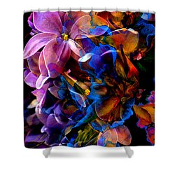 Shower Curtain featuring the painting Evening Bouquet by Hanne Lore Koehler
