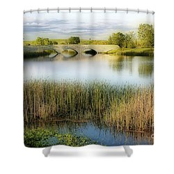 Evening Calm Shower Curtain by Teresa Zieba