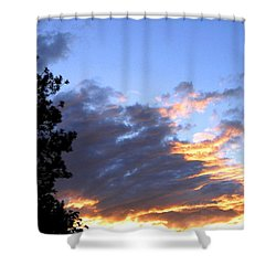 Evening Color Shower Curtain by Will Borden