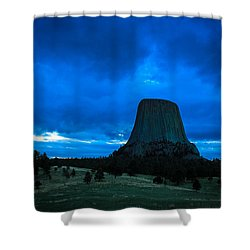 Evening Drama Shower Curtain