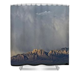 Shower Curtain featuring the photograph Evening Drama Over The Organs by Kurt Van Wagner