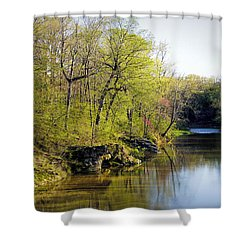 Evening Falls On Cedar Creek Shower Curtain