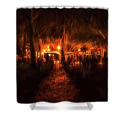 Evening Gathering Shower Curtain