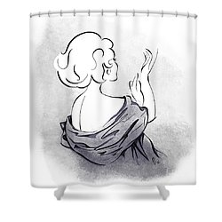 Shower Curtain featuring the digital art Evening Gloves by Cindy Garber Iverson