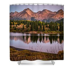 Evening Glow At Molas Lake Shower Curtain