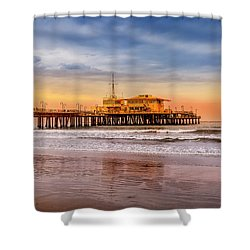 Evening Glow At The Pier Shower Curtain