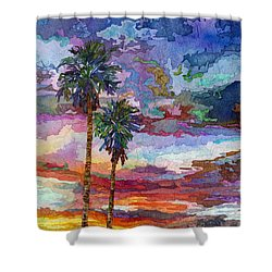 Evening Glow Shower Curtain