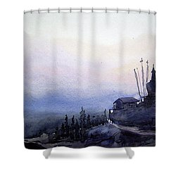 Evening Himalaya Landscape Shower Curtain