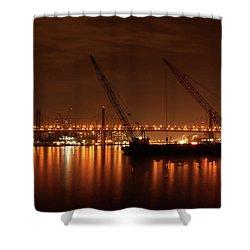 Evening Illumination Shower Curtain