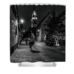 Evening In Bergheim Shower Curtain by Alan Toepfer