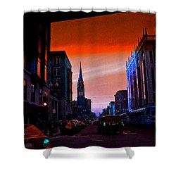 Evening In Boston Shower Curtain