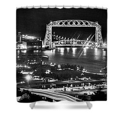 Shower Curtain featuring the photograph Evening In Duluth by Bill Pevlor