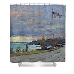Evening In Gratwick Waterfront Park Shower Curtain