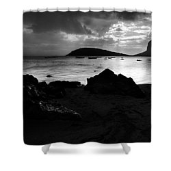 Shower Curtain featuring the photograph Evening In Le Gaulatte by Julian Cook