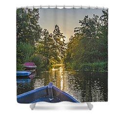 Evening In Loosdrecht Shower Curtain