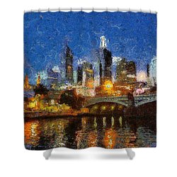 Evening In Melbourne Shower Curtain