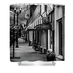 Evening In Murphy In Black And White Shower Curtain