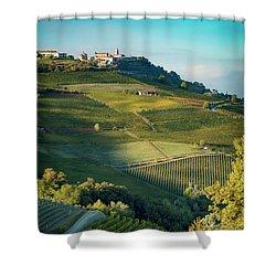 Shower Curtain featuring the photograph Evening In Piemonte by Brian Jannsen