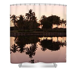 Evening In Pink Shower Curtain