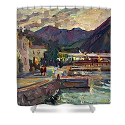 Evening In Prcanj Shower Curtain
