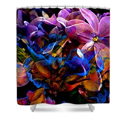Shower Curtain featuring the painting Evening In Springtime by Hanne Lore Koehler