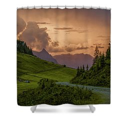 Evening In The Alps Shower Curtain