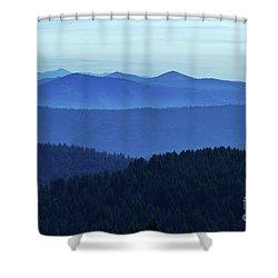 Oregon Blues  Shower Curtain