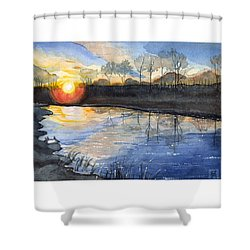 Evening Shower Curtain by Katherine Miller