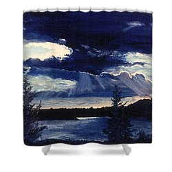 Evening Lake Shower Curtain