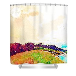Evening Lakescape Shower Curtain