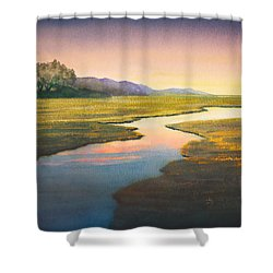 Evening Light Shower Curtain by Douglas Castleman