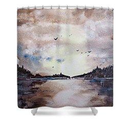 Evening Light Shower Curtain by Geni Gorani