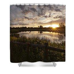 Evening Light Shower Curtain by Ian Merton