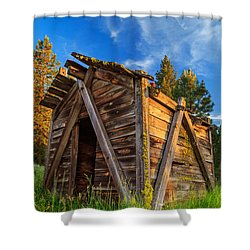 Evening Light On An Old Cabin Shower Curtain