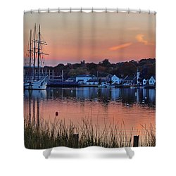 Evening Light Over Mystic Shower Curtain
