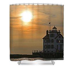 Evening Lighthouse 1 Shower Curtain