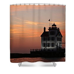 Evening Lighthouse 5 Shower Curtain