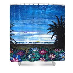 Tropical Evening Shower Curtain