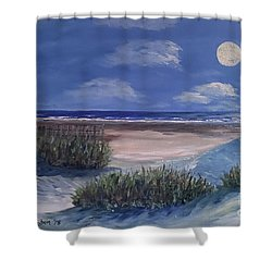 Evening Moon Shower Curtain