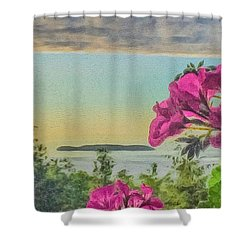 Islands Of The Salish Sea Shower Curtain by William Wyckoff