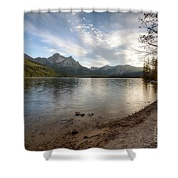 Evening On Stanley Lake Shower Curtain