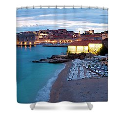 Evening Over Dubrovnik Shower Curtain by Rae Tucker