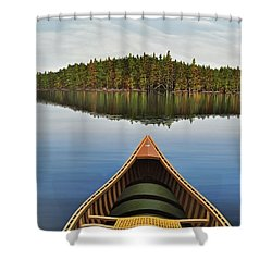 Evening Paddle  Shower Curtain by Kenneth M  Kirsch