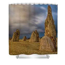 Evening Pinnacles Shower Curtain