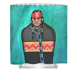 Evening Prayer Shower Curtain by Antonio Romero