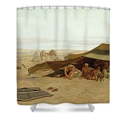 Evening Prayer In The West Shower Curtain by Frederick Goodall
